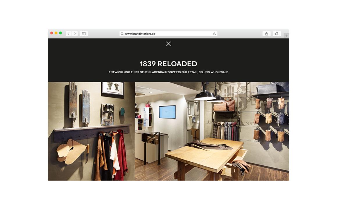 Responsive Webdesign für Brand Interiors Michaela Neugebauer München