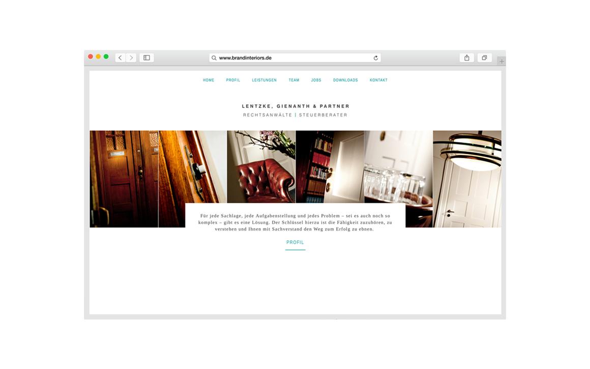 Responsive Webdesign für Kanzlei Lentzke, Gienanth und Partner München