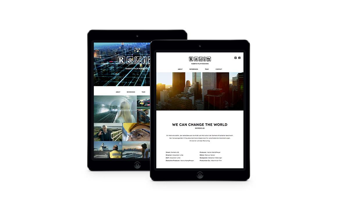 Responsive Webdesign für Rabbitz Film München