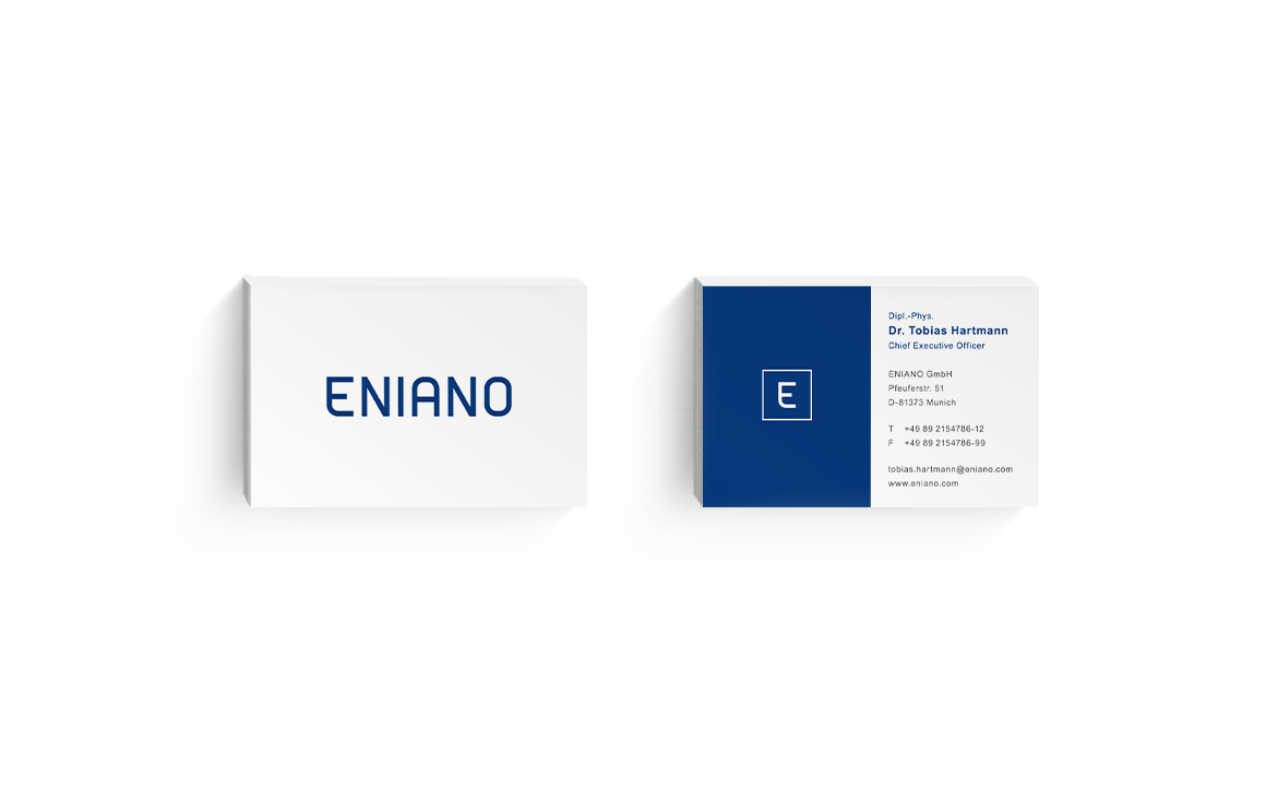 visitenkarten design für eniano