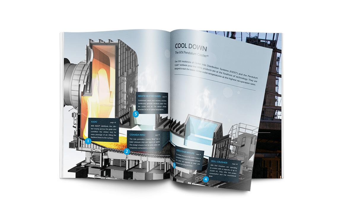 imagebroschüre mit bildbearbeitung und grafikdesign für ikn