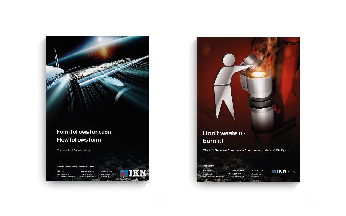 design für werbeanzeigen in fachmagazinen aus der zementindustrie