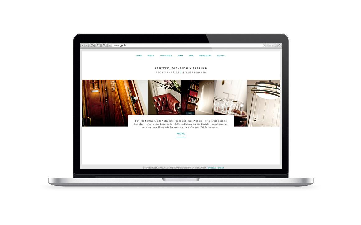 Responsive Webdesign für Lentzke, Gienanth & Partner Rechtsanwälte und Steuerberater