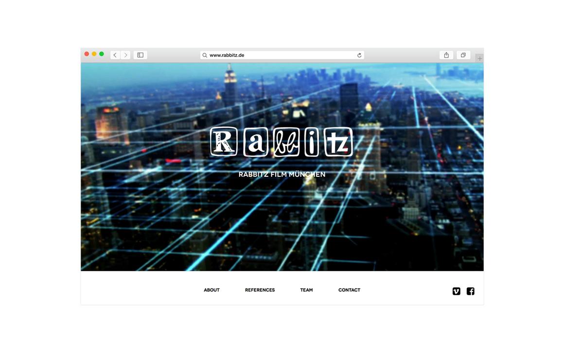 fullscreen video webdesign für rabbitz film münchen