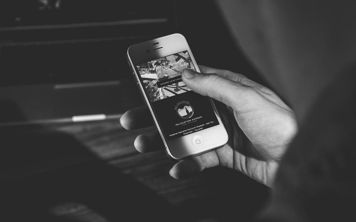 mobile ansicht der internetseite von relocation kohnen