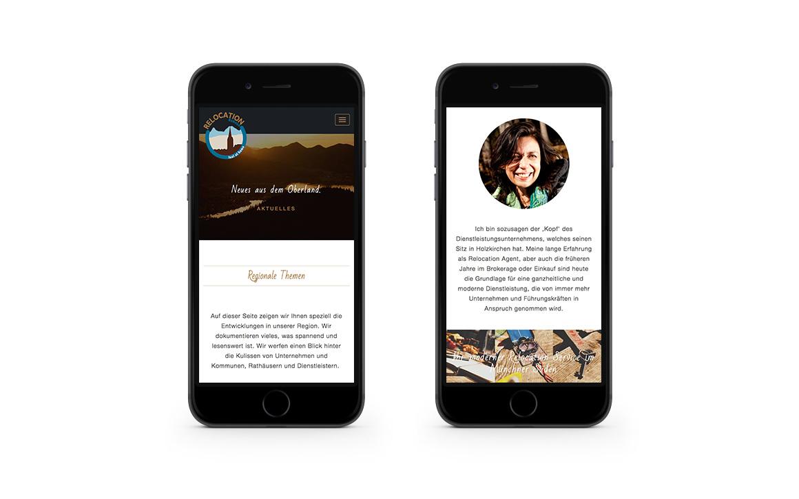 resposive webdesign für die internetseite für relocation kohnen