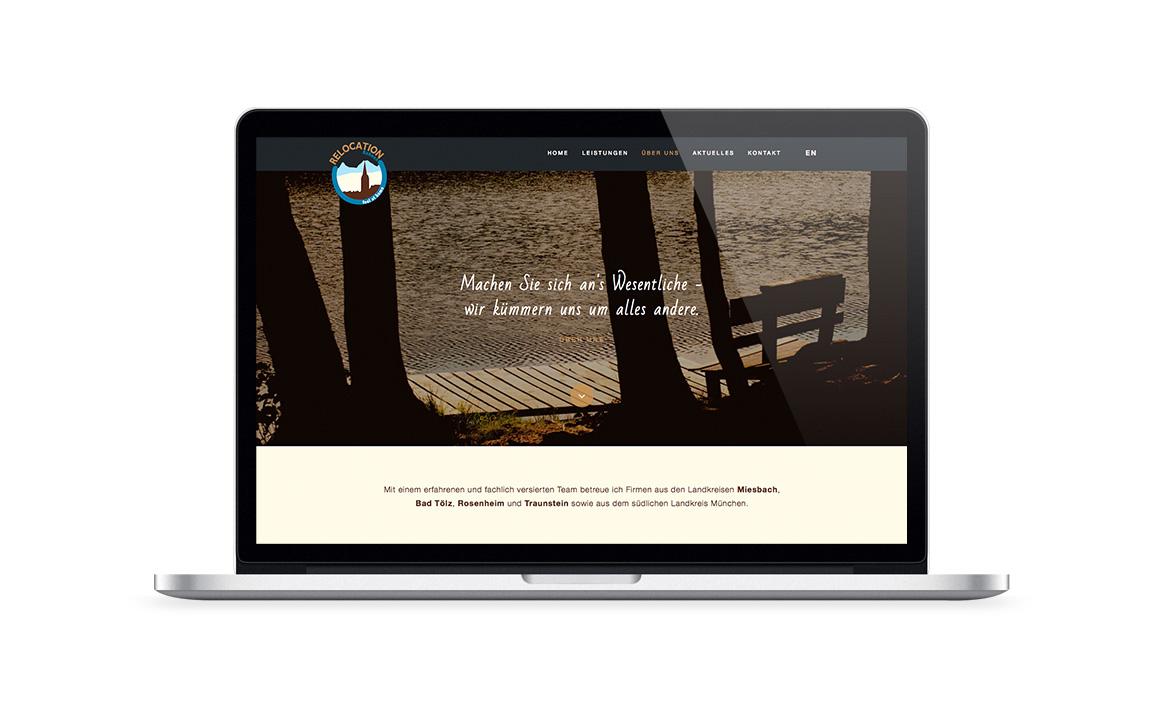 webdesign screen der internetseite von relocation kohnen