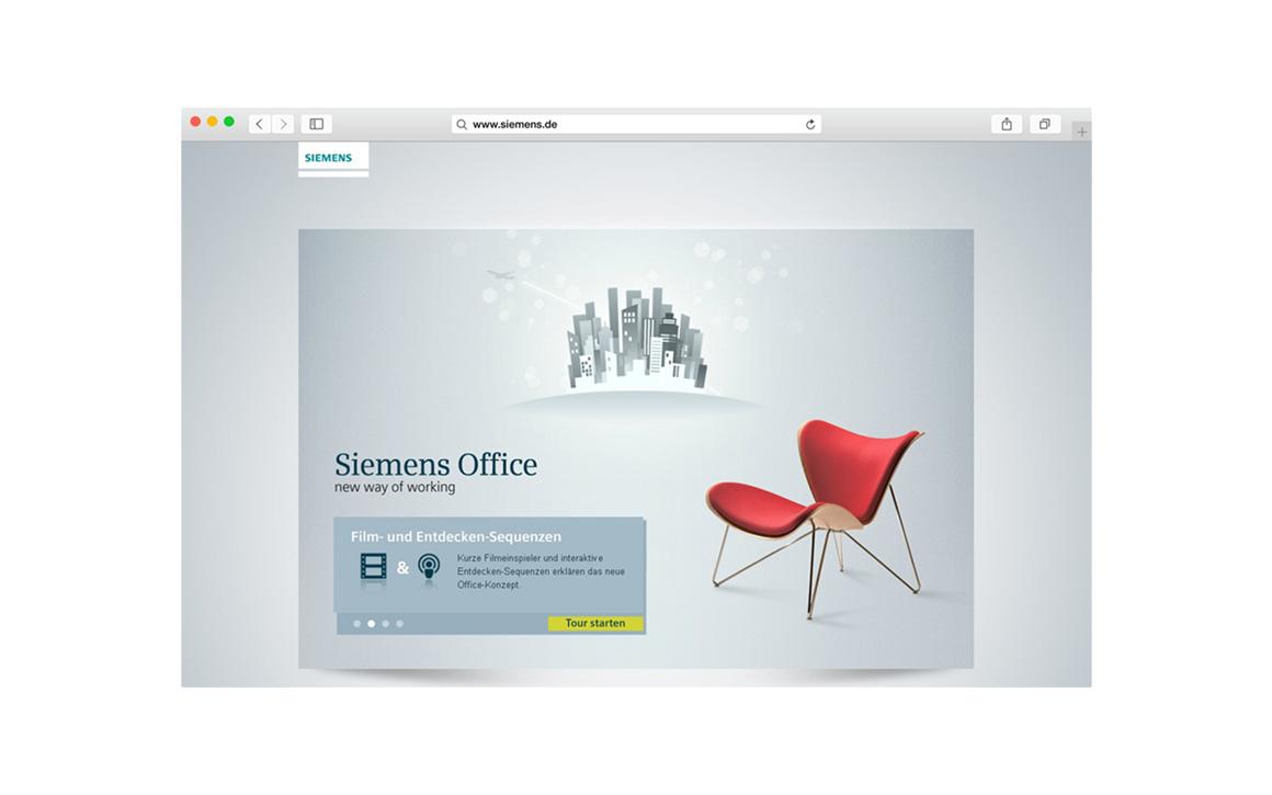 Multimedia Design für die virtuelle Tour durch das neue Siemens Office