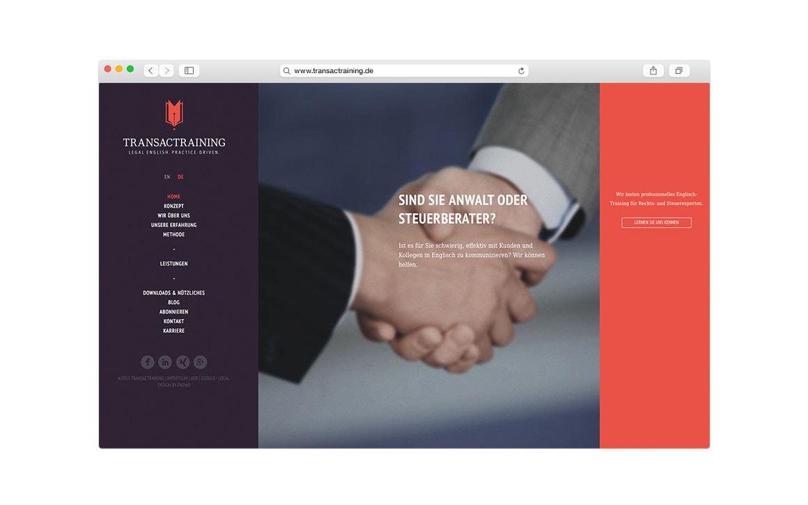 webdesign und cms für das startup transactraining aus münchen