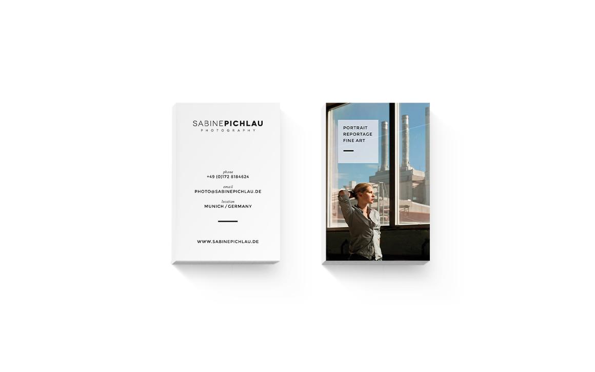 visitenkarten für sabine pichlau photography