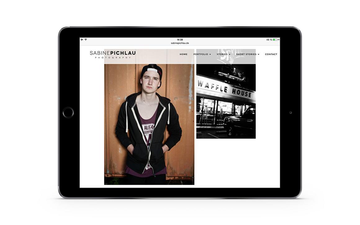 mobile ansicht der internetseite von sabine pichlau photography