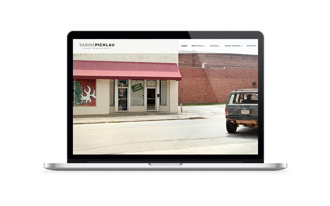screendesign der internetseite von sabine pichlau photography