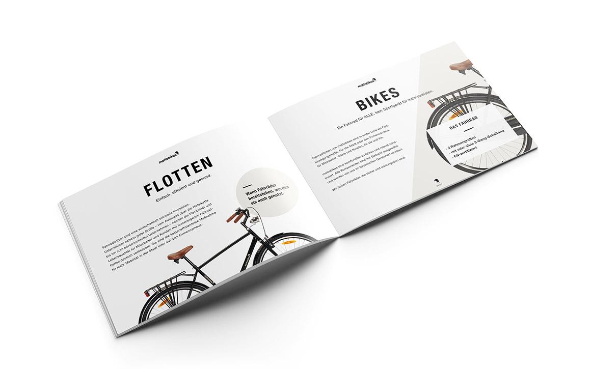 Grafikdesign für Mailing und Brochure Mottobikes München